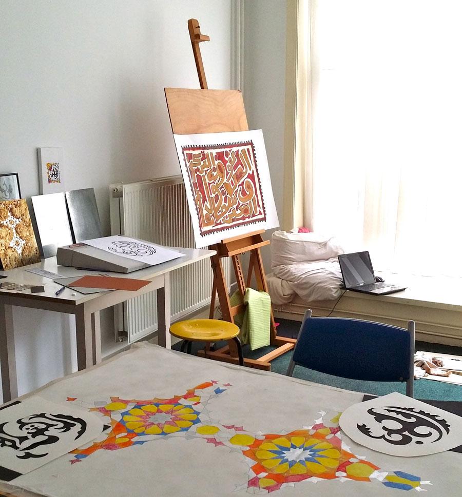 atelier Evelien Gargasch, Arabische Kalligrafie
